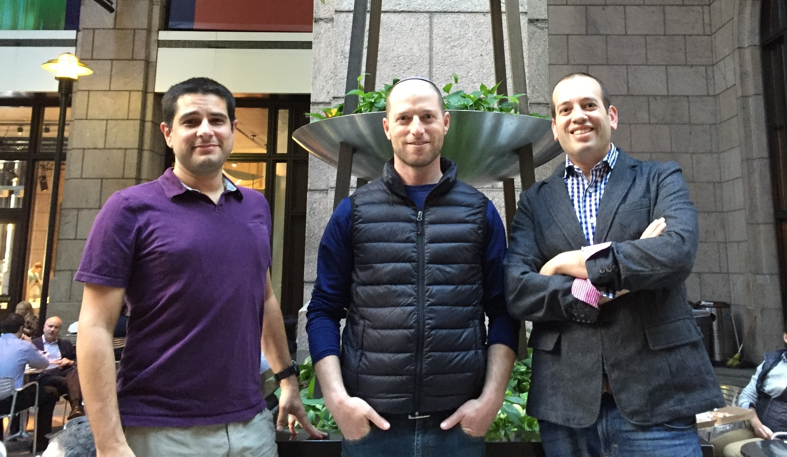 Jifiti cofounders, from left, CTO Meir Dudai, CEO Yaacov Martin and CMO Shaul Weisband. Photo: courtesy