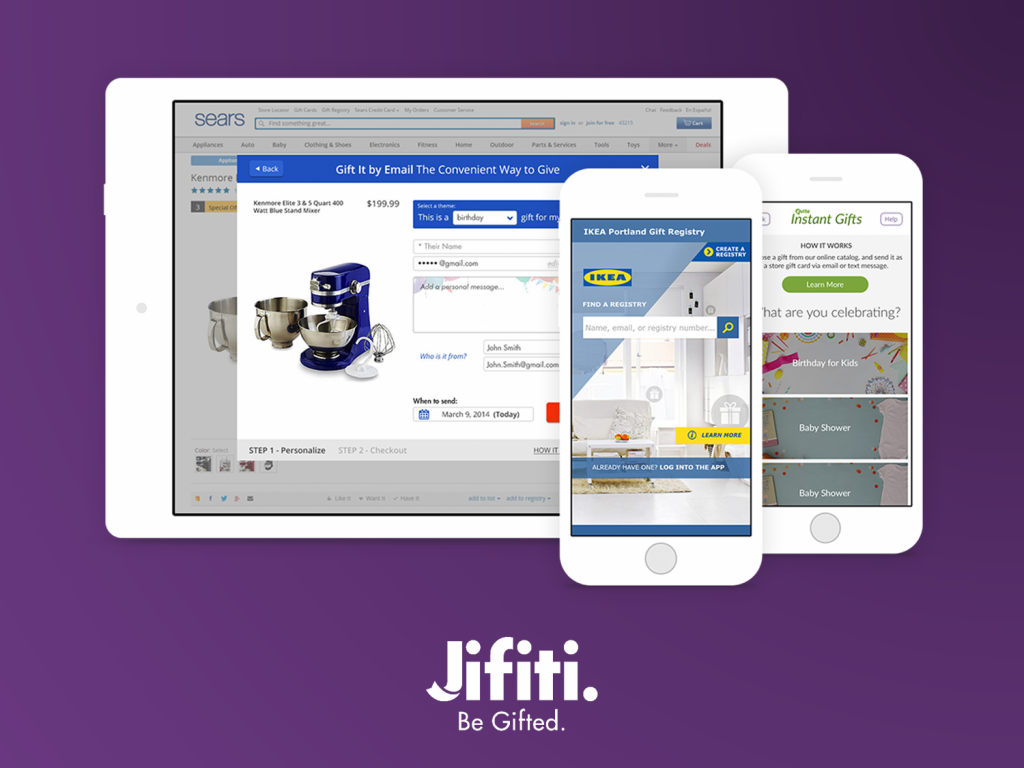 Jifiti offers a dedicated ecommerce platform, a widget or a plug-and-play gift registry platform.