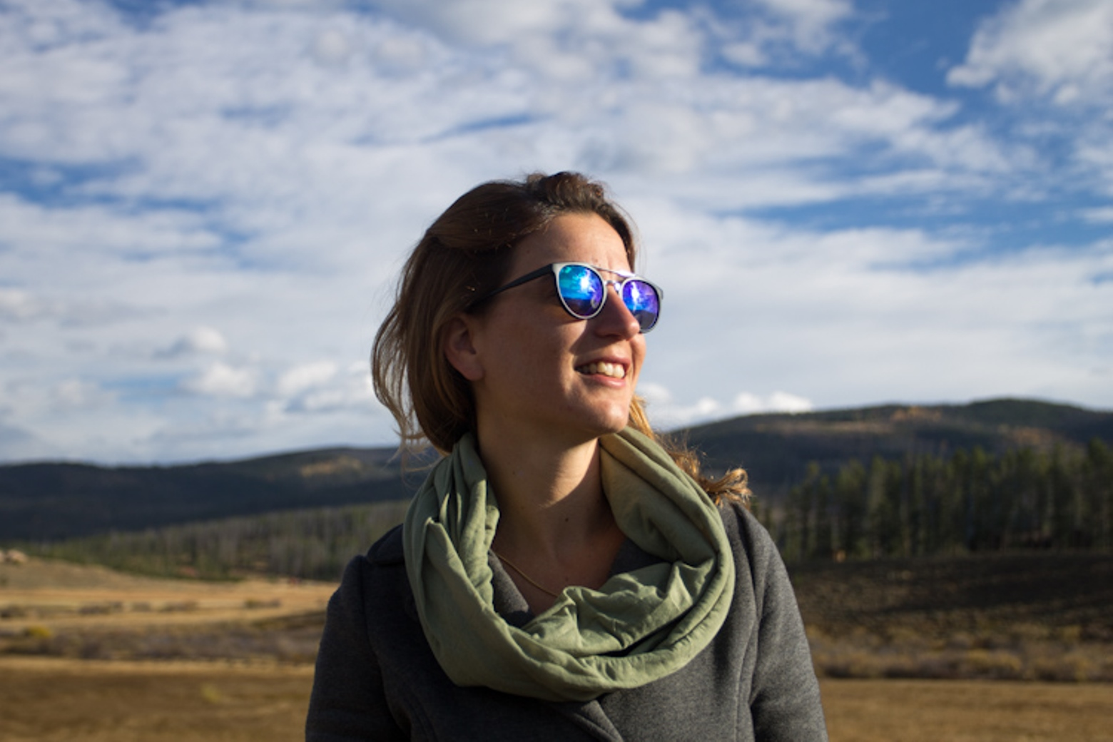 Noa Margalit on the Devil's Thumb Ranch in Colorado during The Harvest. Photo by Ksenia Prints
