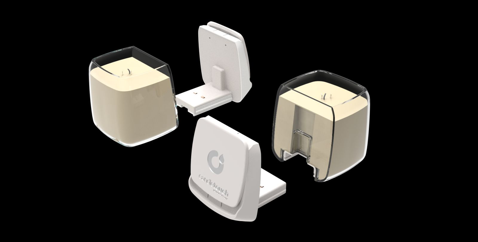 Here are the components of the device. Photo courtesy of Candle Touch