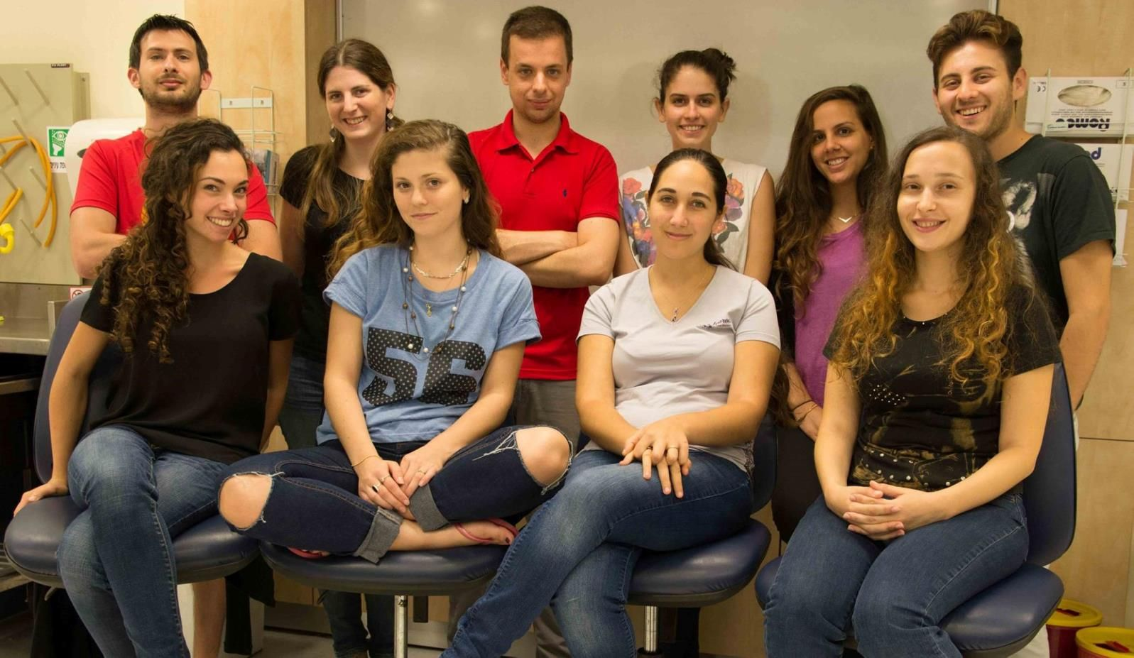 Technion iGEM 2015 team with Alexey Tomsov in center top row. Photo: courtesy