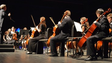 The Maale Adumim Youth Symphony in concert. Photo by Daniel Santacruz