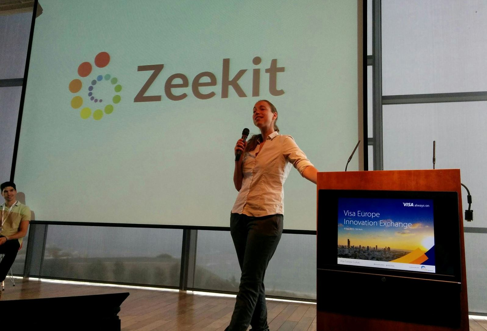 Yael Vizel presenting Zeekit at the Visa Europe Innovation Exchange. Photo courtesy