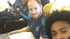 Brazil winger Willian posted an instagram photo with his teammates before en route to Israel.