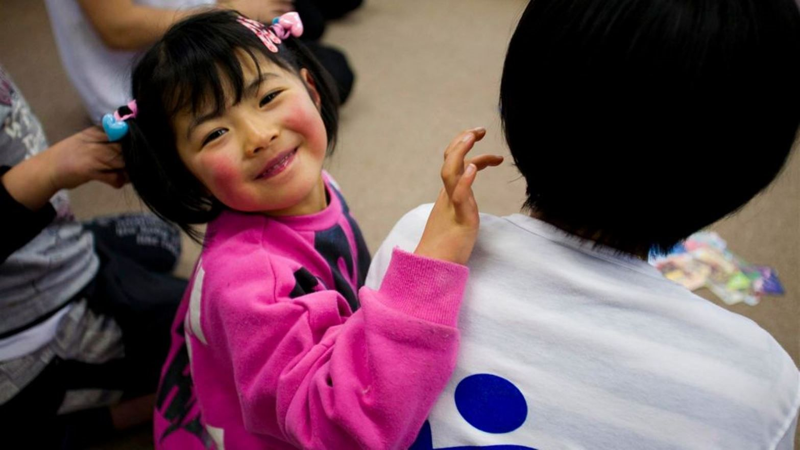 A Japanese child taking part in an IsraAID resilience program. Photo: courtesy