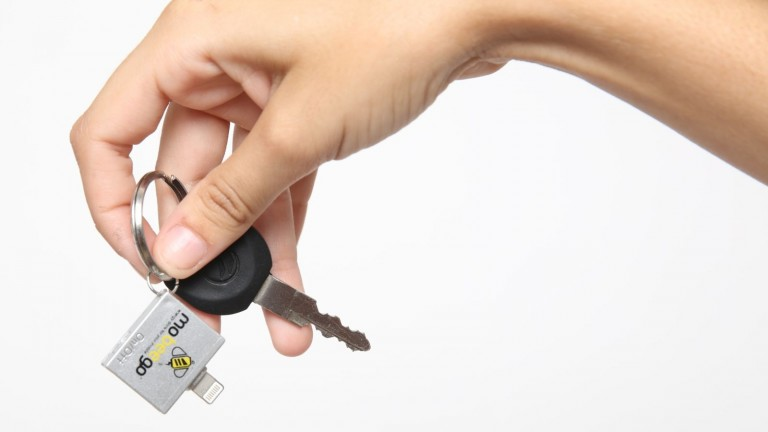 The adapter can live on your keyring. Photo courtesy of Mobeego