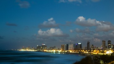 Tel Aviv at night. Photo by Suprun Vitaly/Shutterstock.com