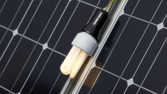 "A ""lightbulb"" moment in the PV cell-making business. Image via Shutterstock.com"