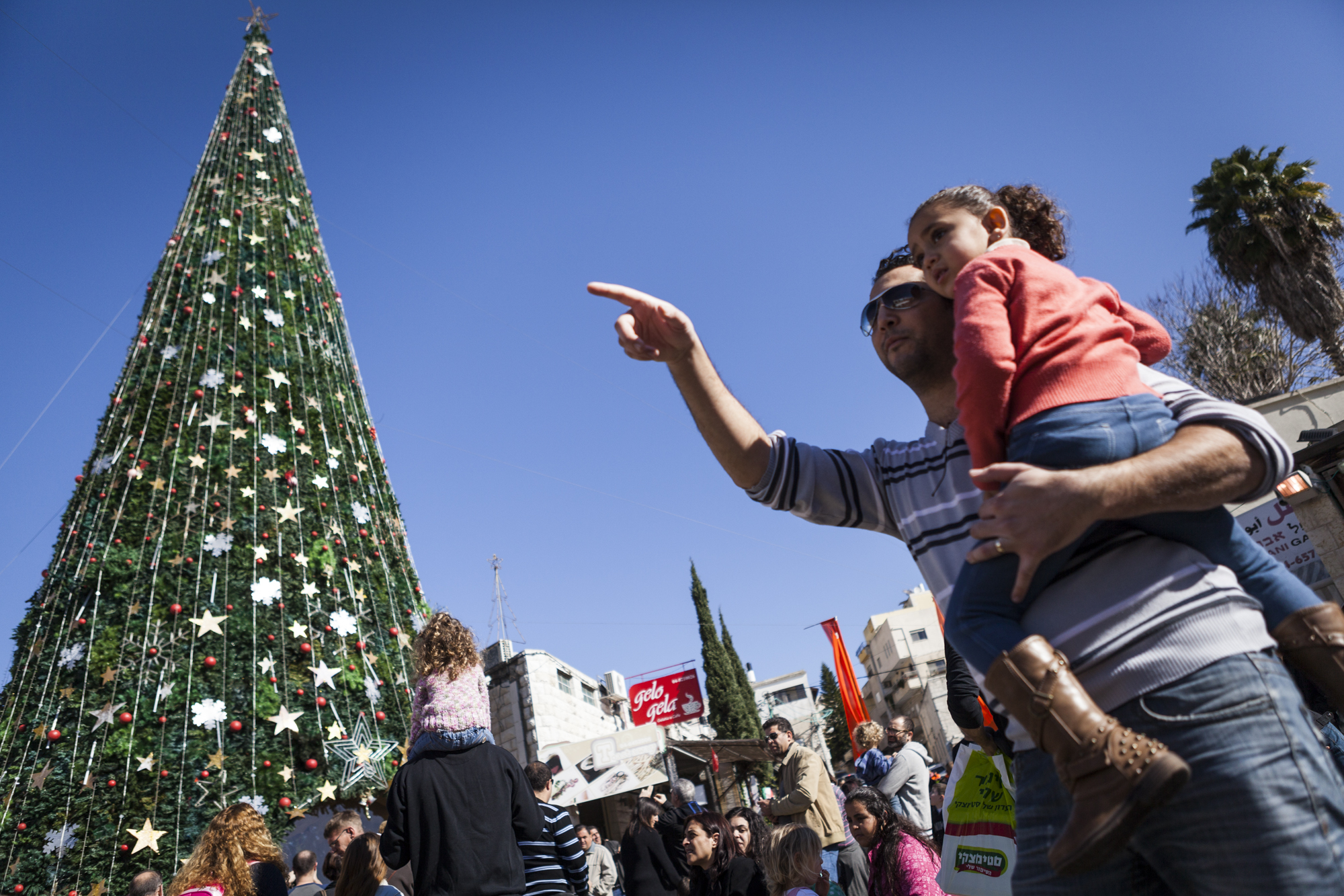 Christmas in the Galilee town of Nazareth. Photo by Itay CohenFLASH90
