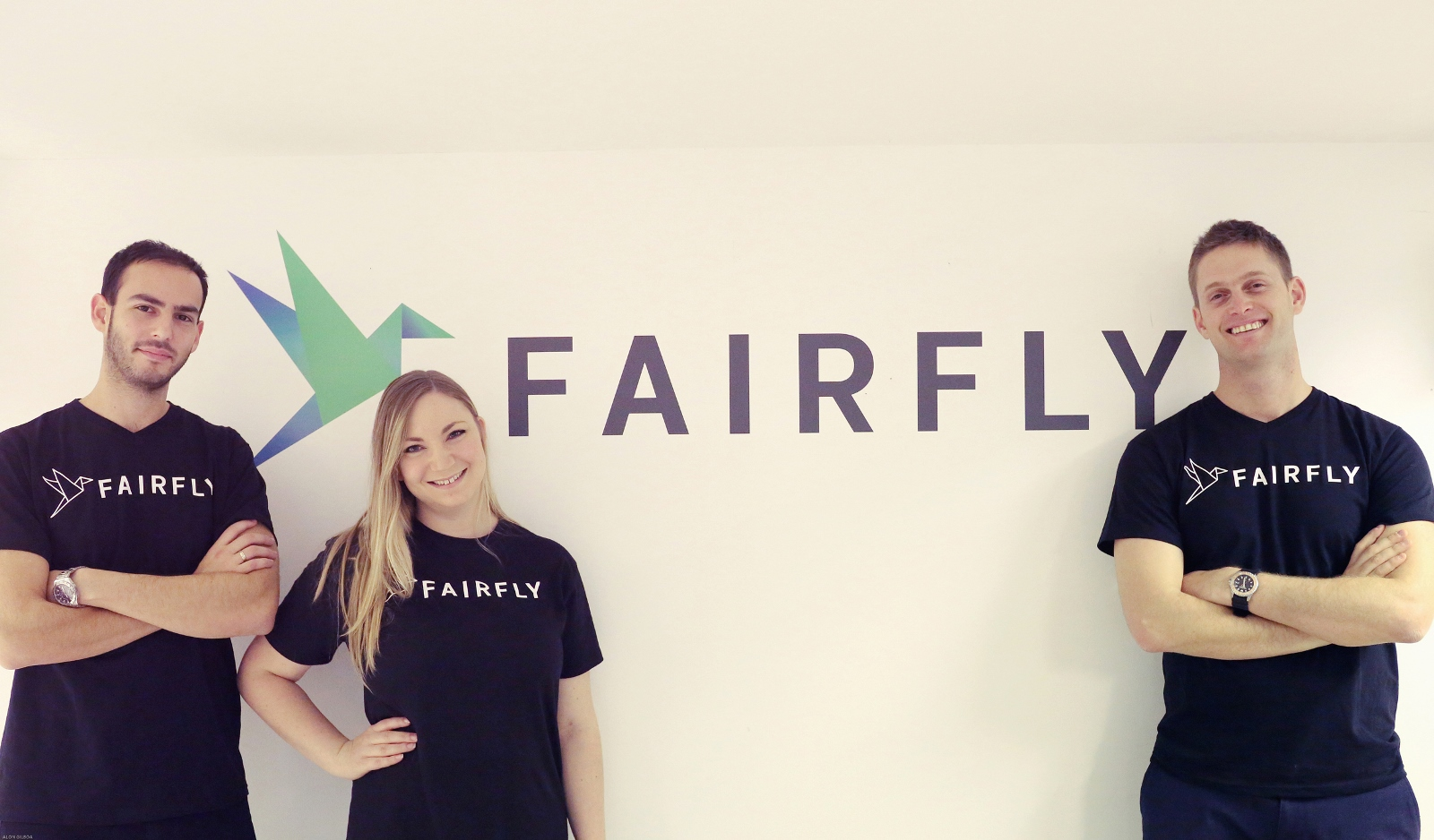 FairFly cofounders, from left , Ami Goldenberg, Gili Lichtman and Aviel Siman-Tov. Photo: courtesy