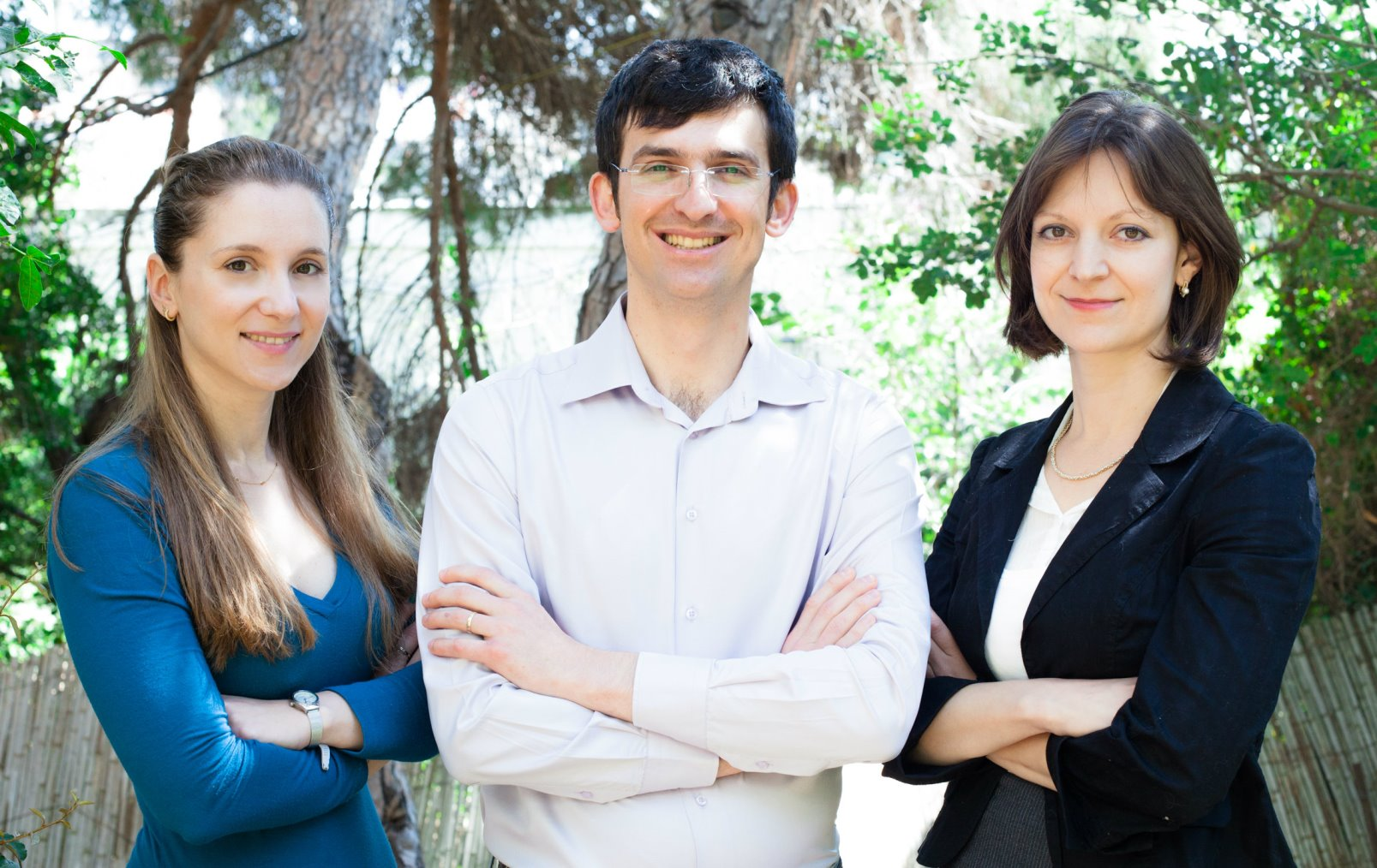 From left, LabSuit cofounders Ira Blekhman, Alex Domeshek and Helen Rabinovich. Photo courtesy of Technion Spokesperson's Office