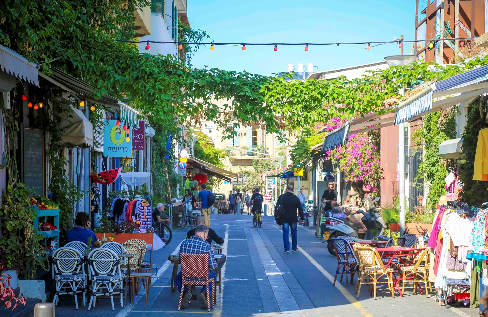 Jaffa is colorful any time of year. Photo by Guy Yechiely
