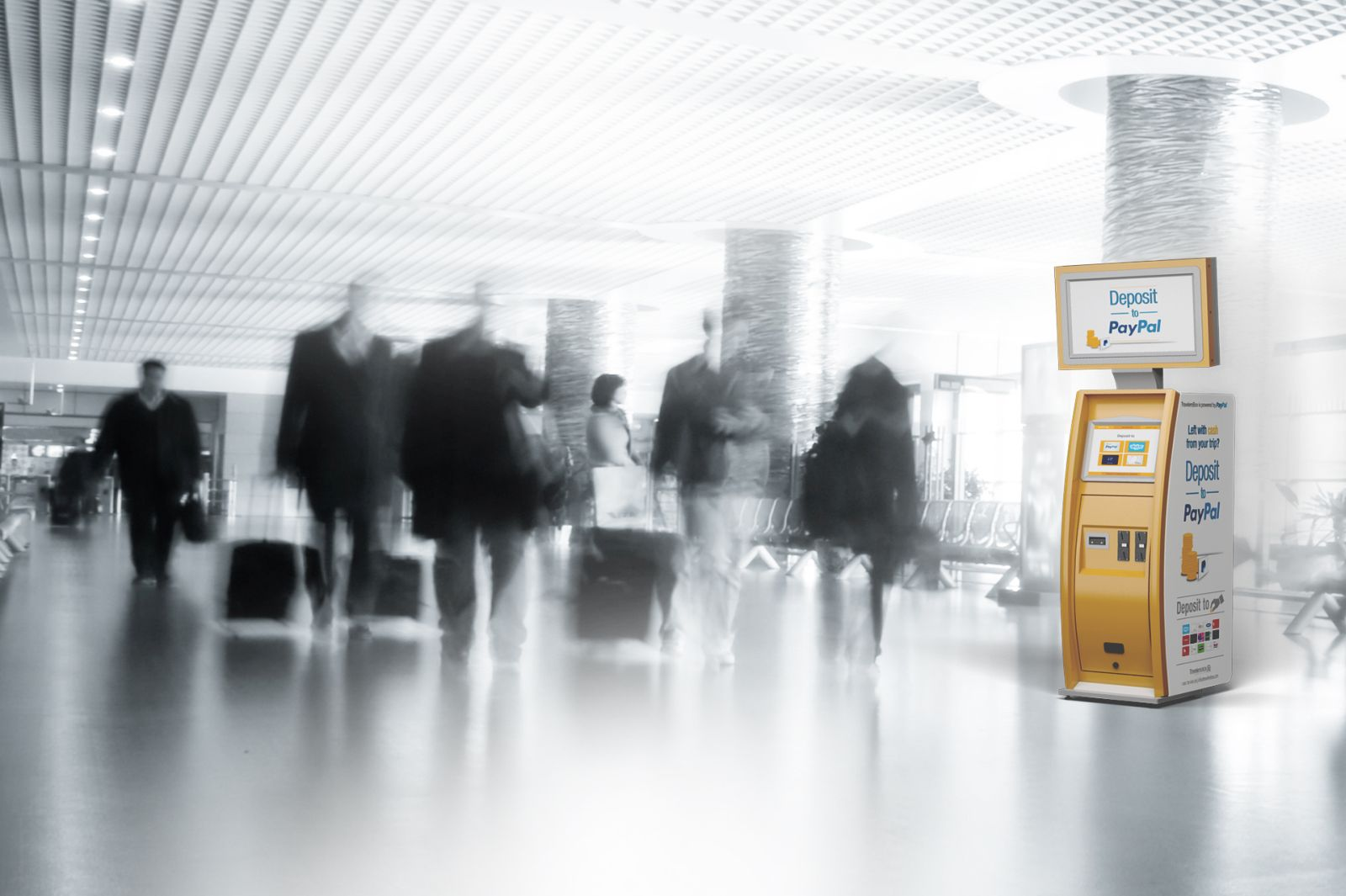 The Israeli company aims to make it easy for airport travelers to convert spare foreign change to useful currency. Photo courtesy of TravelersBox