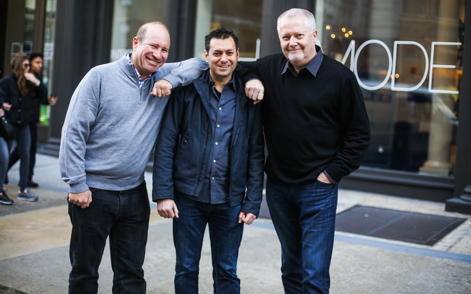 From left, Vroom cofounders Elie Wurtman, Allon Bloch and Marshall Chesrown. Photo: courtesy