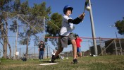 Baseball for All brings 15 Israeli Arab and 15 Israeli Jewish kids together to bat, pitch and run bases. Photo by Yossi Zamir/JNF