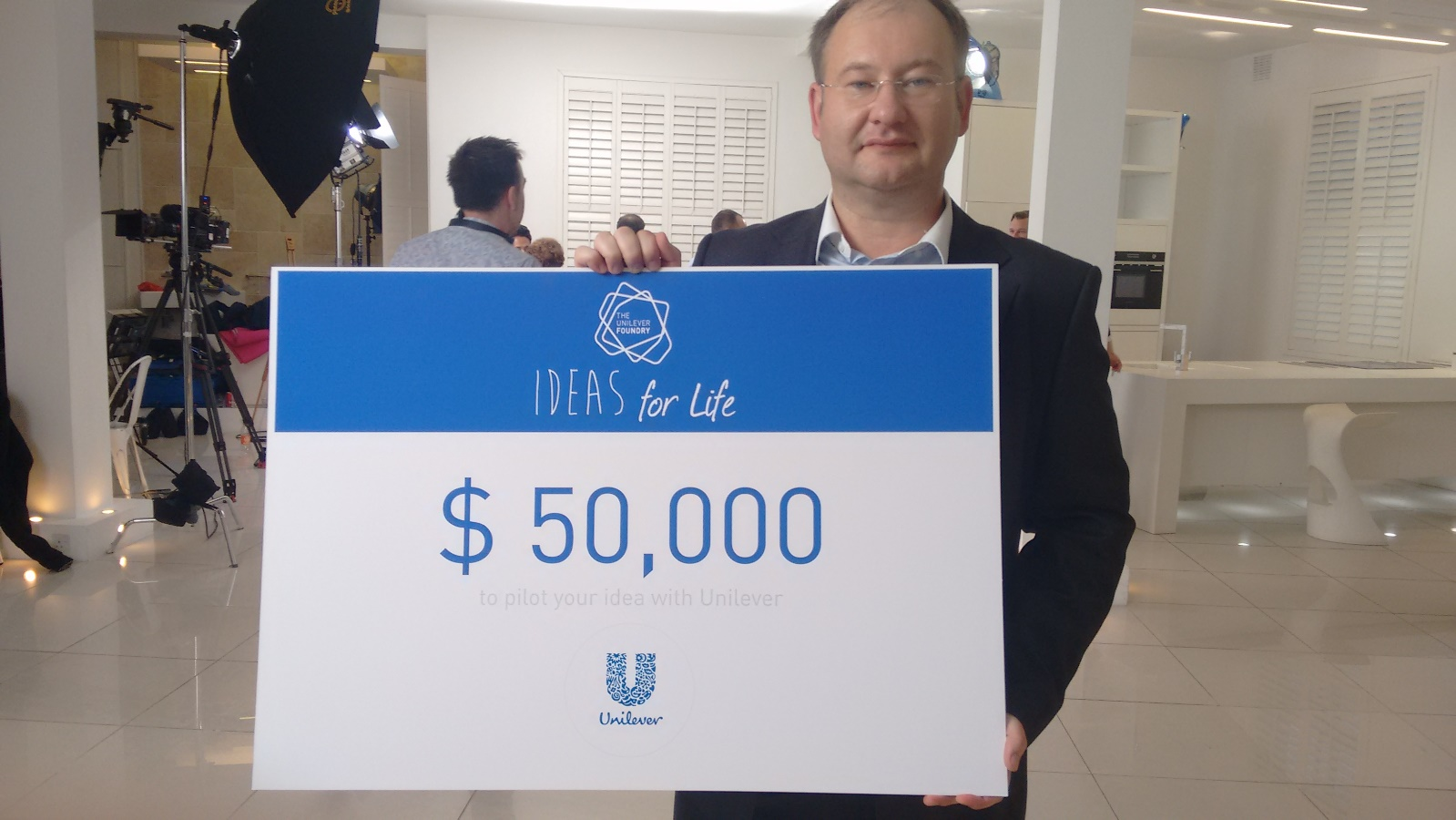 BwareIT CEO and cofounder Konstantin Berezin accepted the award in London. Photo: courtesy