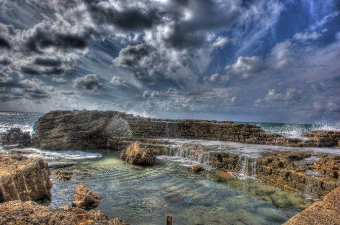 Caesarea's beautiful harbor. Photo by Roy Katalan