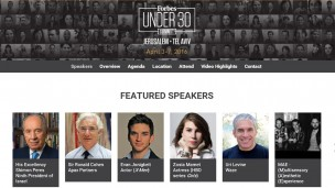 Forbes announces first Under 30 EMEA Summit in Israel. Image of Forbes website