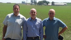 Groundwork BioAg executives, from left, Danny Levy, Yossi Kofman, Dan Grotsky. Photo: courtesy