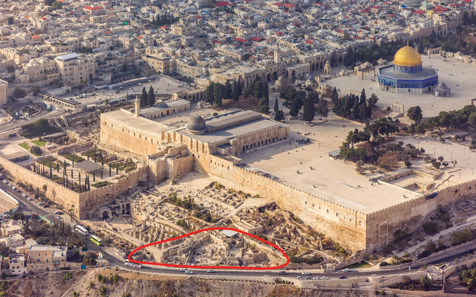 The Ophel excavations at the foot of the southern wall of the Temple Mount in Jerusalem are conducted by the Hebrew University of Jerusalem's Institute of Archaeology. Photo courtesy of Andrew Shiva