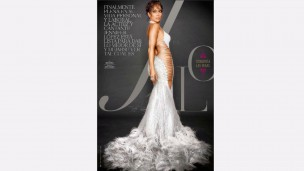 Jennifer Lopez wears an exclusive dress by Israeli designer Galia Lahav on cover of People Magazine. Photo from Facebook