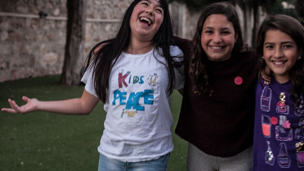 K4P Israel members continue to meet despite the violence. Photo by Dandan Lieu