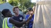 Sean Penn in Haiti. Photo: courtesy