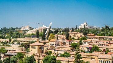 Photo of Jerusalem's Mishkenot Sha'ananim neighborhood by Borya Galperin/Shutterstock.com