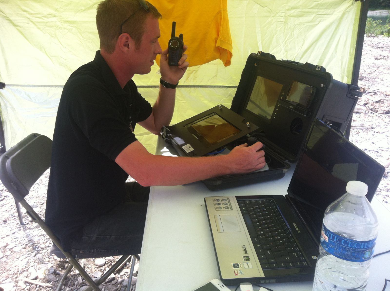 The portable ground control station processes data and video from Skystar 180. Photo courtesy of RT Systems