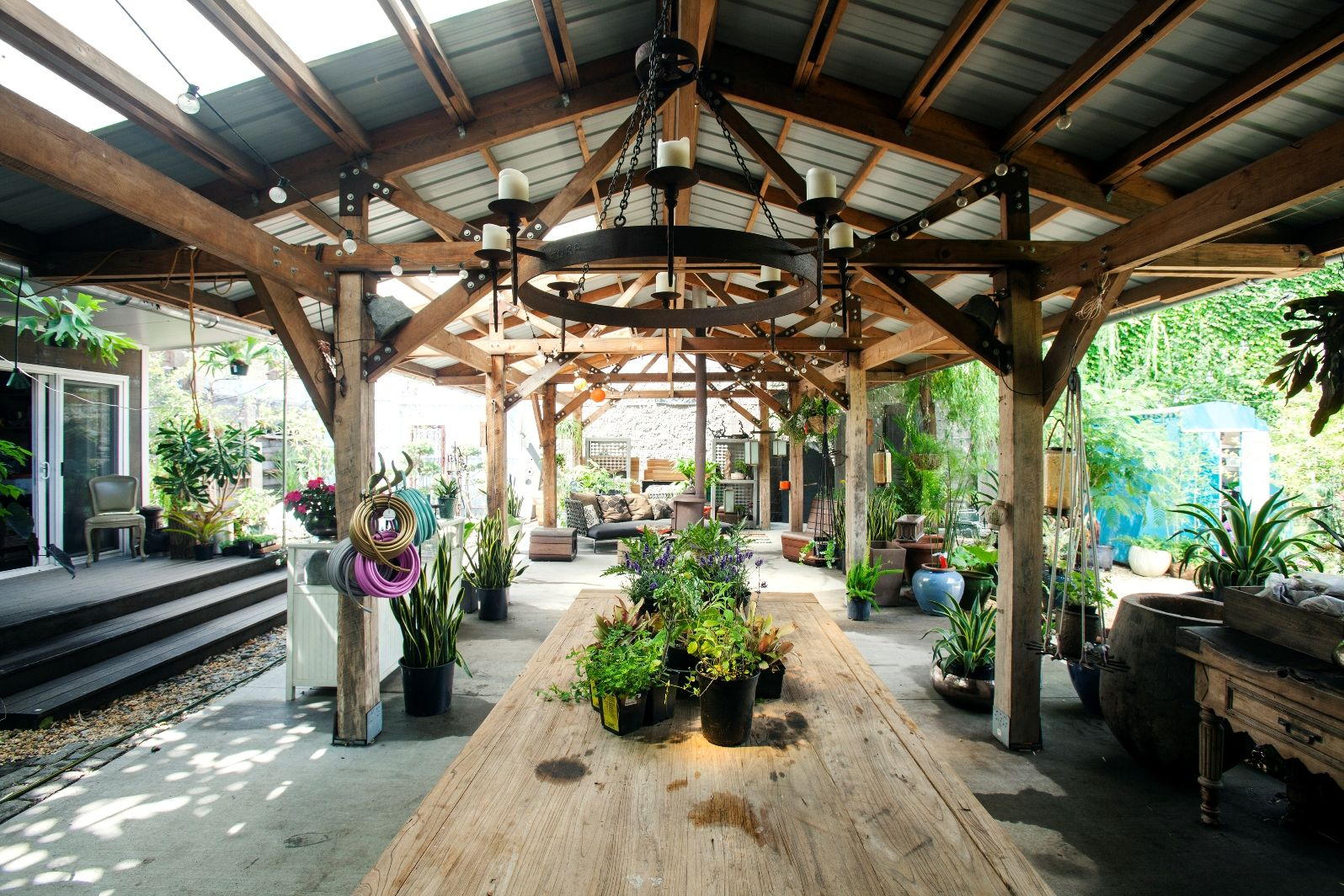 An urban greenhouse makes an unusual event venue. Photo courtesy of Splacer