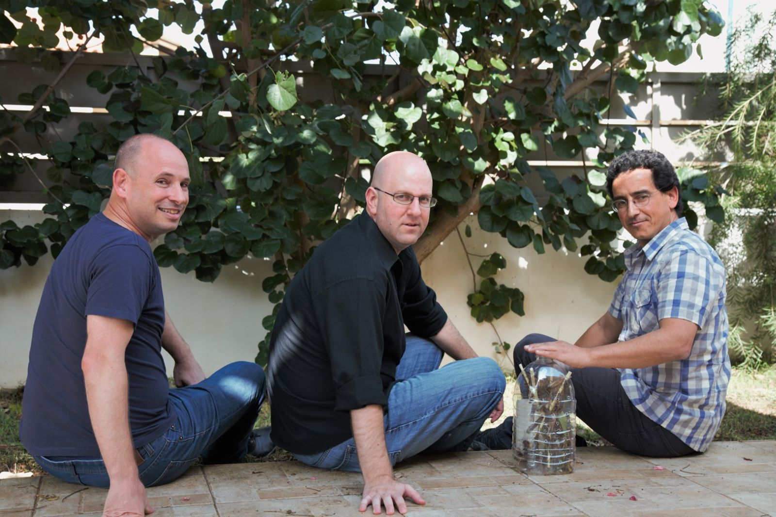 Steak TzarTzar cofounders Dror Tamir, Ben Friedman and Chanan Aviv. Photo by Naor Friedman