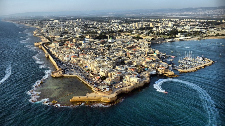 View of Acre from the south. Photo by Yigal Dekel