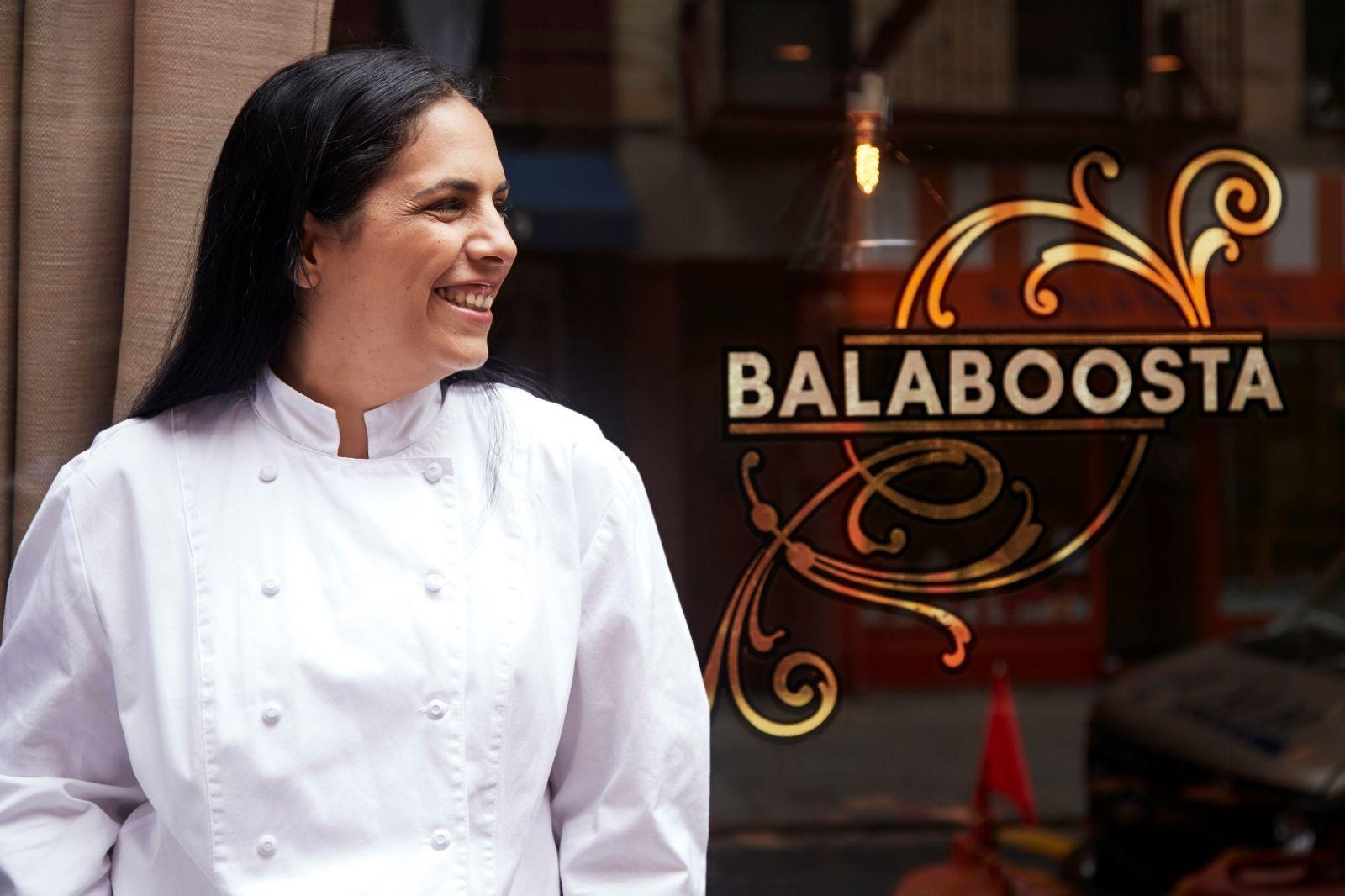 Chef Admony outside her Manhattan restaurant Balaboosta. Photo via Zagat