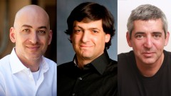 From left, behavioral economists Shlomo Benartzi, Dan Ariely and Uri Gneezy. Photos courtesy