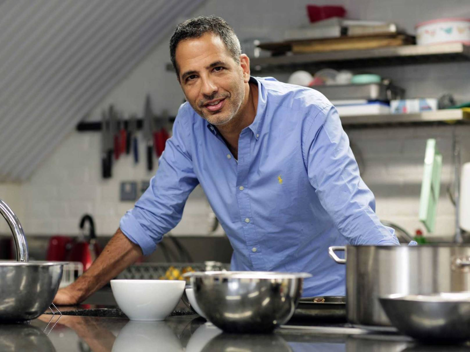 Chef Yotam Ottolenghi. Photo by Justin Sutcliffe/The Independent