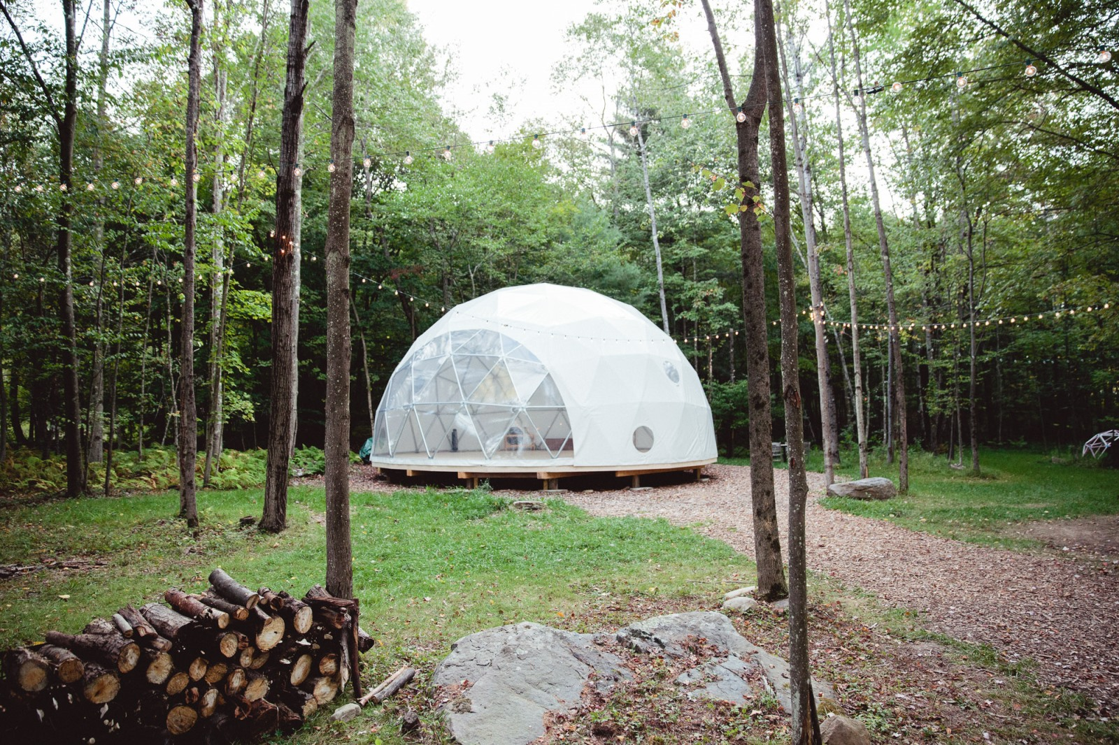 The dome is one of the features of this working fiber farm. Photo courtesy of Splacer