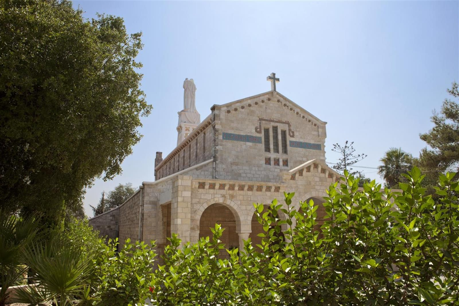 Church of Our Lady of the Ark of the Covenant in Abu Ghosh. Photo by Mordagan/GoIsrael.com