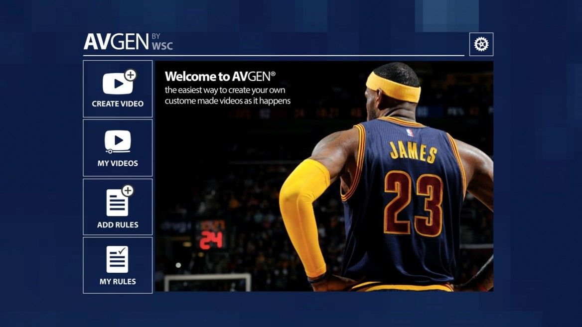 If you're a LeBron fan, now you can get highlight clips of all his plays. Photo courtesy of WSC Sports Technologies