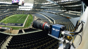 "Super-HD cameras encircle the stadium to capture images from every angle to be converted into 3D ""voxels."" Photo courtesy of Replay Technologies"