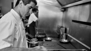 Chef Michael Solomonov at Zahav. Photo by Mike Regan