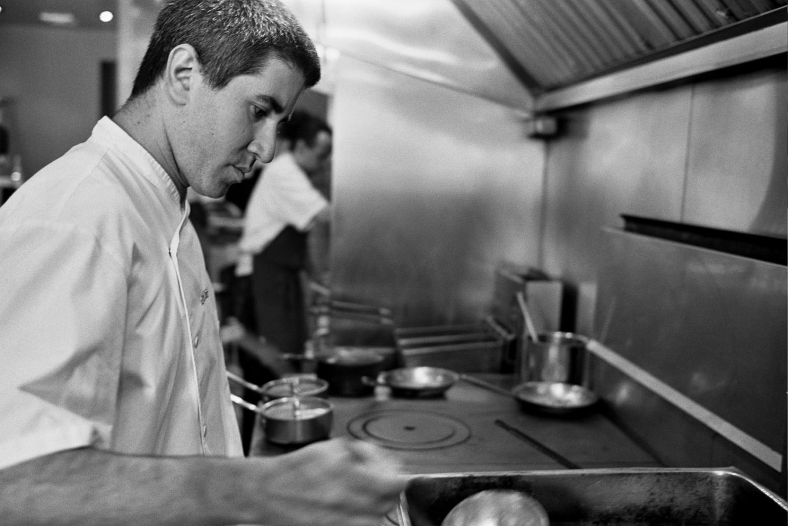 Chef Michael Solomonov at Zahav. Photo by Mike Regan
