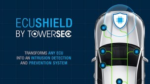 ECUSHIELD is a real-time ready product which embeds to allow any ECU or gateway to detect and prevent hacking. Photo courtesy