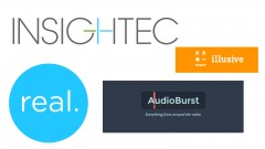 Logos of Illusive Networks, InSightec, AudioBurst and Real