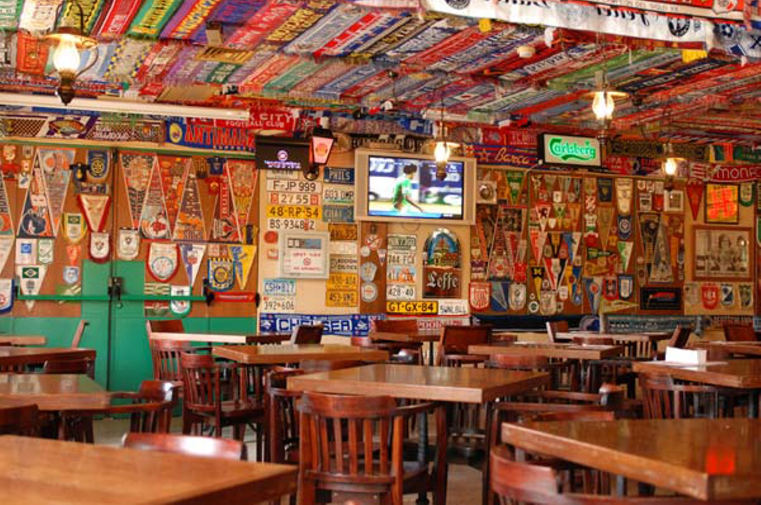 Beer and soccer are on tap at Muza. Photo: courtesy