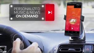 Control your personalized playlist and your phone from Radiomize's steering-wheel cover. Photo screenshot