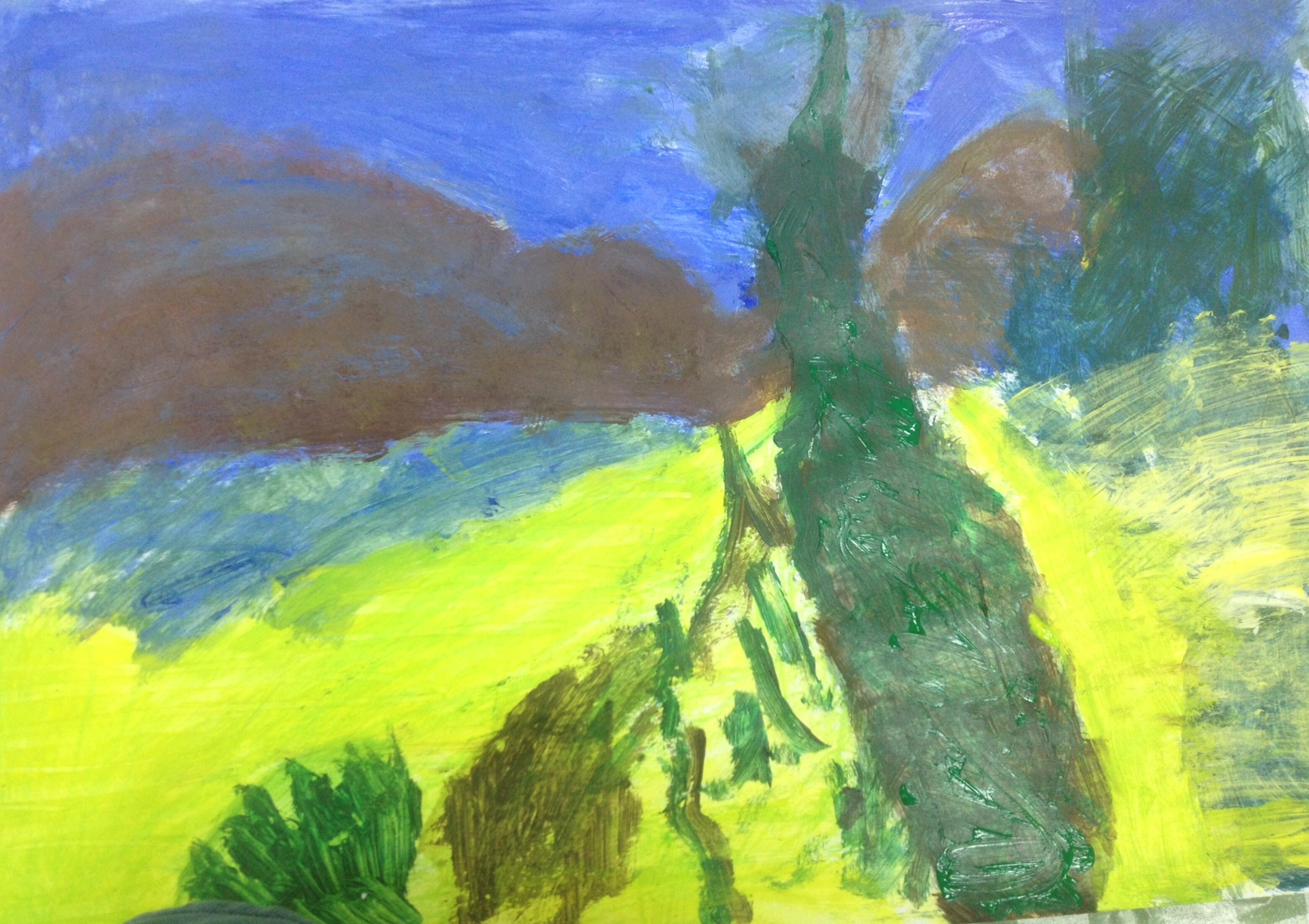 In the painting workshop, clients learn to use colors, even if color-blind. Photo courtesy of Migdal Or