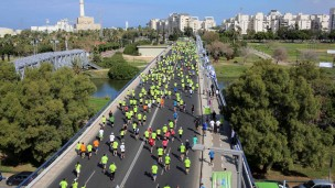 Tel Aviv Marathon. Photo by Ronen Topelberg