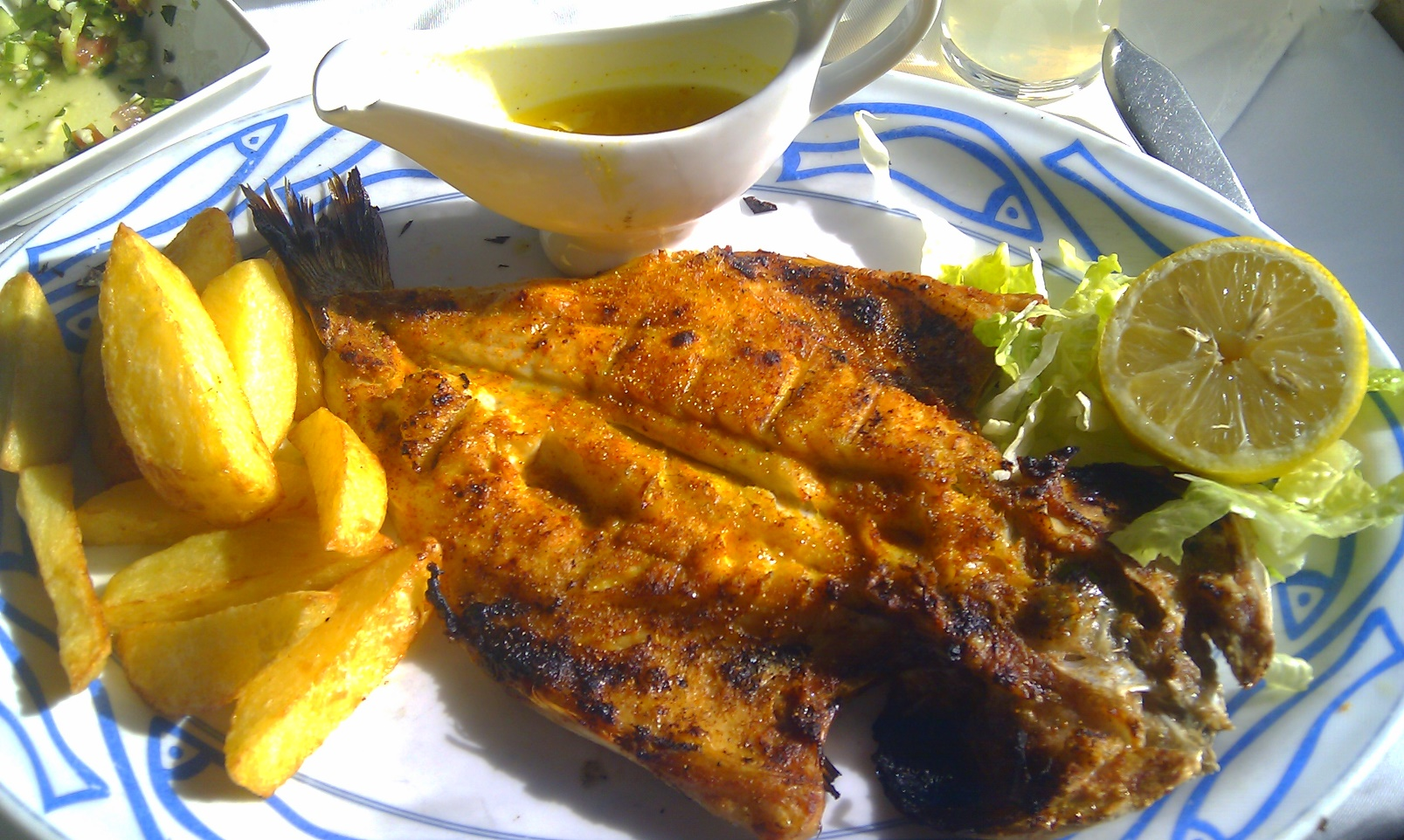 Sea bream served at Ahavat Hayam in Jerusalem. Photo courtesy of the Tasted Israel blog