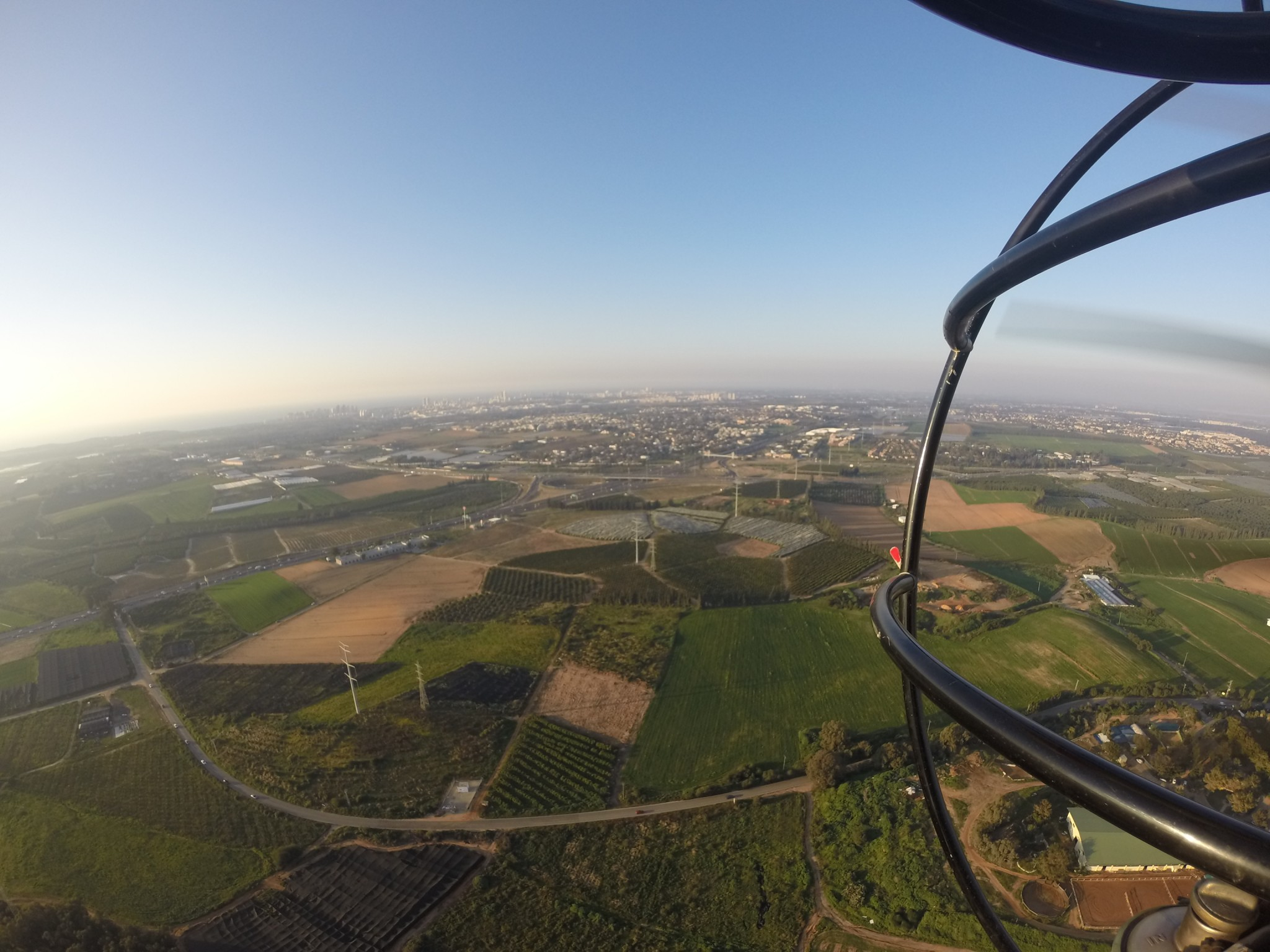 Seeing Israel from above. Photo courtesy of Extreme Israel