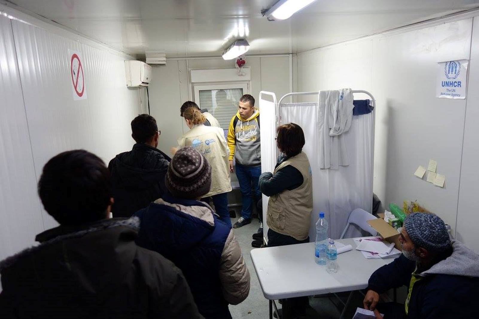 The Natan clinic at the refugee registration camp in Serbia is always busy. Photo via Facebook
